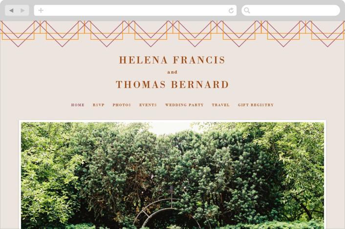 This is a orange wedding website by 2birdstone called Helena printing on digital paper.