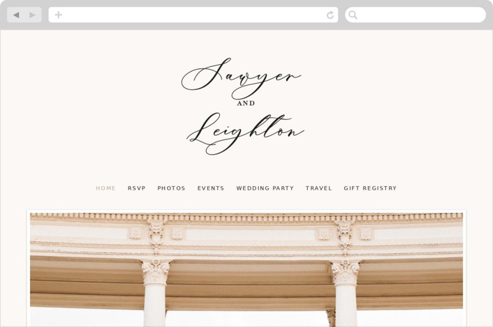 """Eternal"" - Wedding Websites in Ecru by carly reed walker."