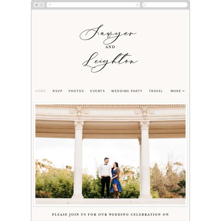"""Eternal"" - Wedding Websites in Ecru by carly reed walker."