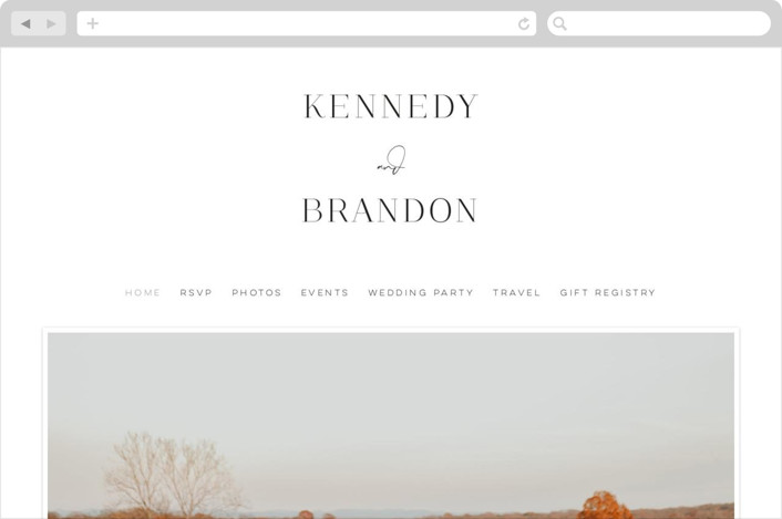 This is a white wedding website by Jessica Williams called The Space Between printing on digital paper.