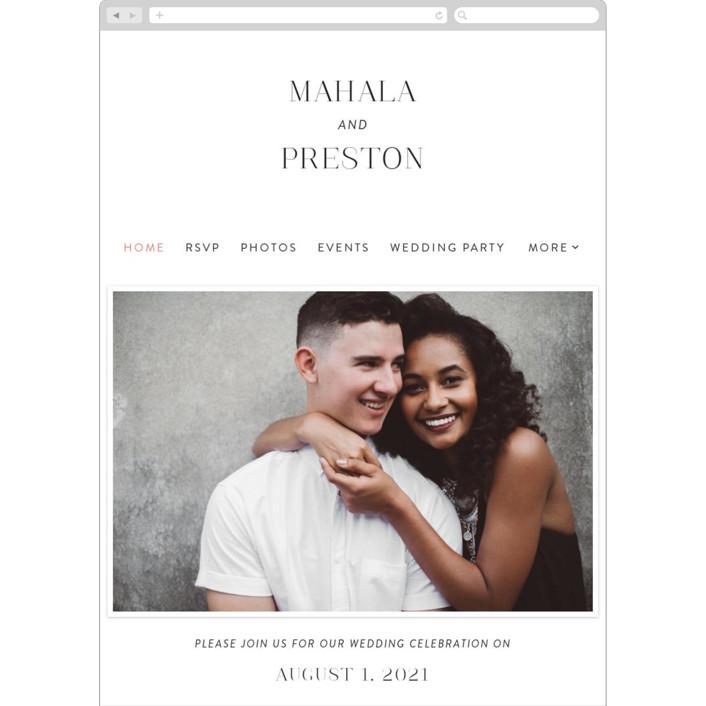 """""""The Ace"""" - Wedding Websites in Petal by Rochelle Renee."""