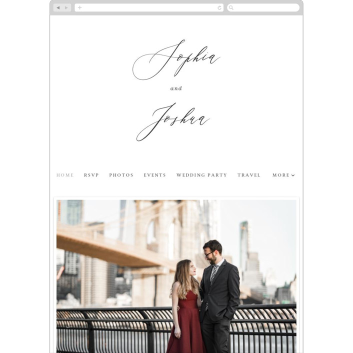 """Crescendo"" - Wedding Websites in Snow by Griffinbell Paper Co.."