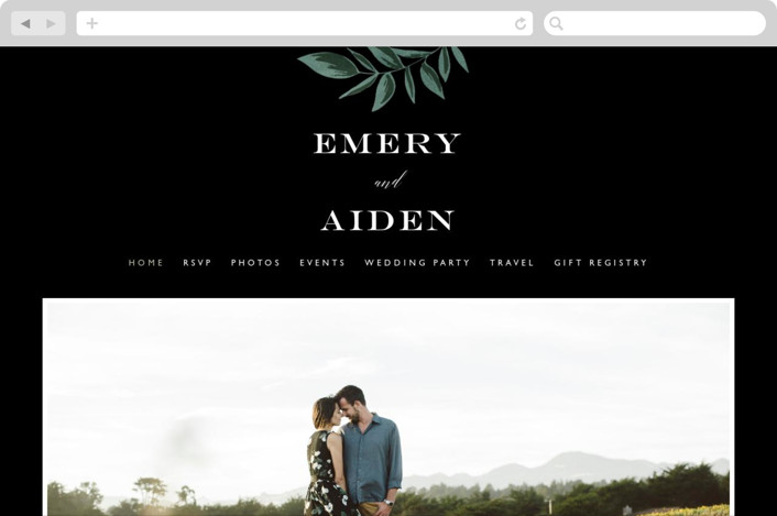 """Forest Crest"" - Wedding Websites in Obsidian by Alethea and Ruth."