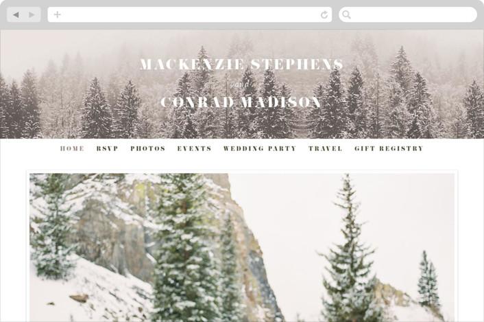 """torrone"" - Rustic Wedding Websites in Cedar by chocomocacino."