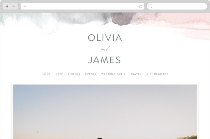 """Sea Froth"" - Wedding Websites in Blush by Creo Study."