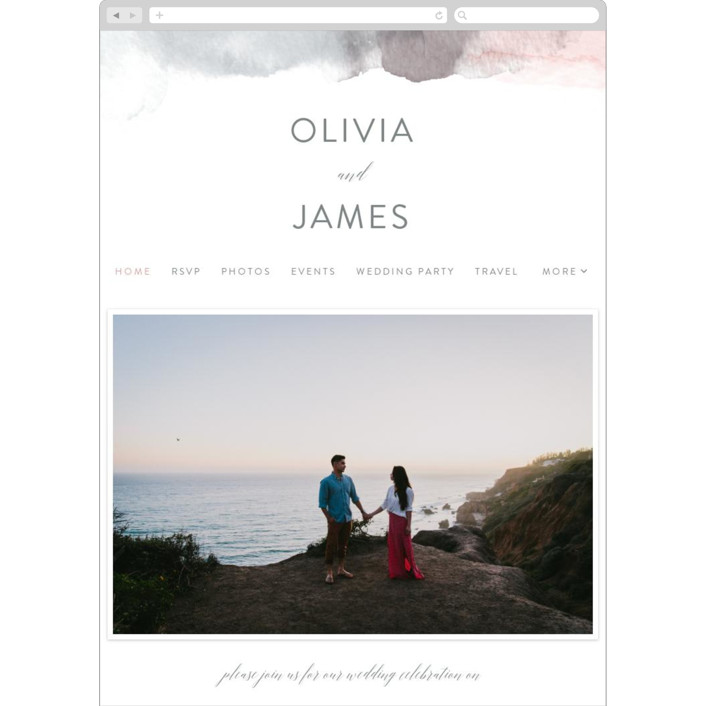 """""""Sea Froth"""" - Wedding Websites in Blush by Creo Study."""