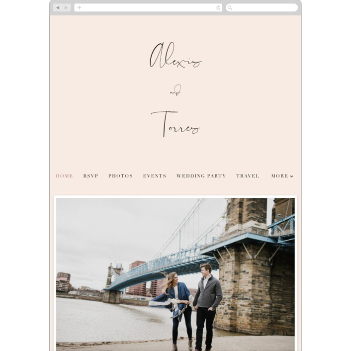 """""""Just the Two of Us"""" - Wedding Websites in Blush by Jennifer Wick."""