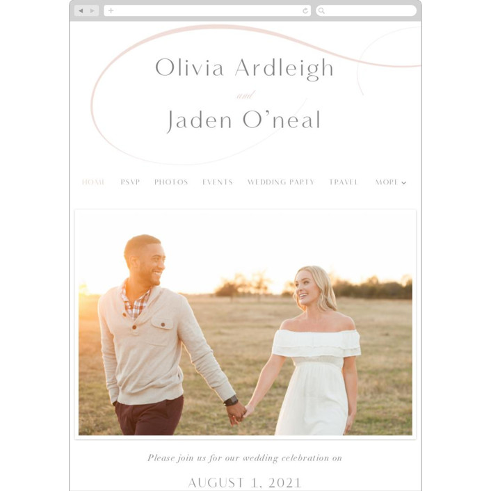 """""""Gramercy"""" - Wedding Websites in Blush by Kristie Kern."""