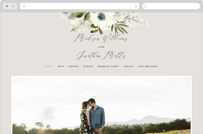 This is a green wedding website by Chris Griffith called Nantucket Romance printing on digital paper.