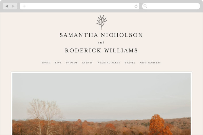 This is a wedding website by Kelly Schmidt called Italia printing on digital paper.