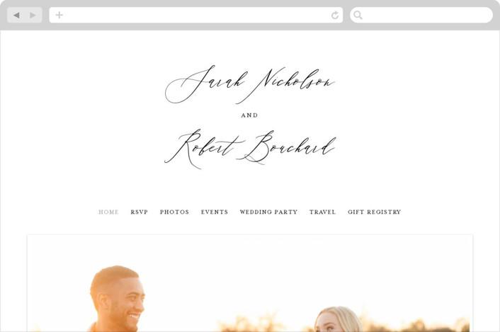 """Corison"" - Wedding Websites in Classic by Kelly Schmidt."