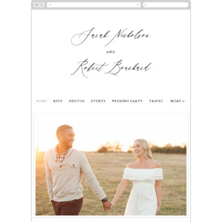 This is a white wedding website by Kelly Schmidt called Corison printing on digital paper.