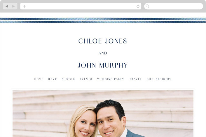 """window pane check"" - Wedding Websites in Navy by Paper Dahlia."