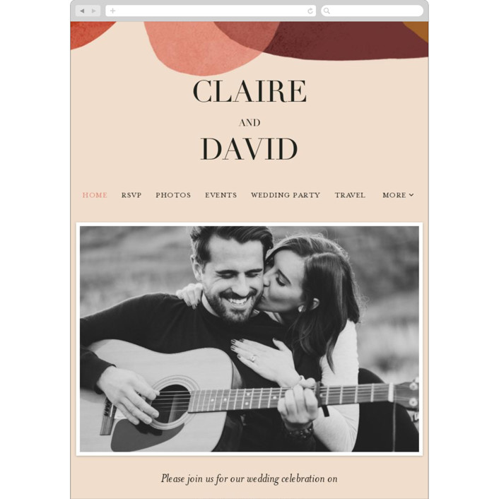 """Galeria"" - Modern Wedding Websites in Autumn Desert by Kelly Schmidt."