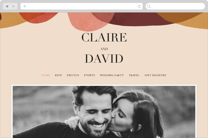 This is a red wedding website by Kelly Schmidt called Galeria printing on digital paper.