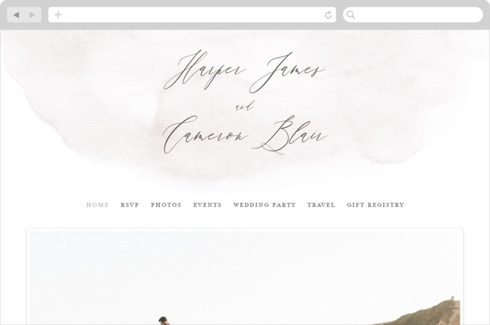 This is a white wedding website by Everett Paper Goods called Sloped printing on digital paper.