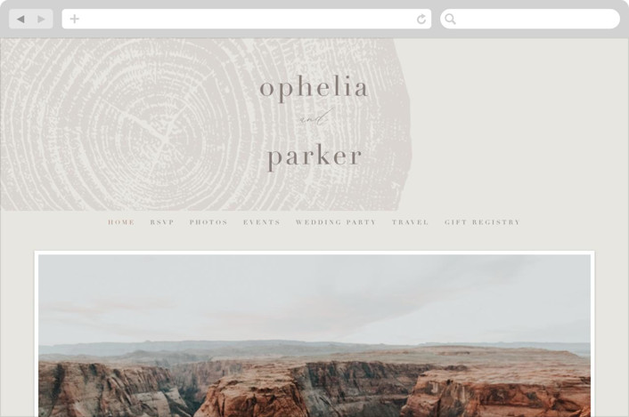 This is a grey wedding website by Robin Ott called a hundred years printing on digital paper.