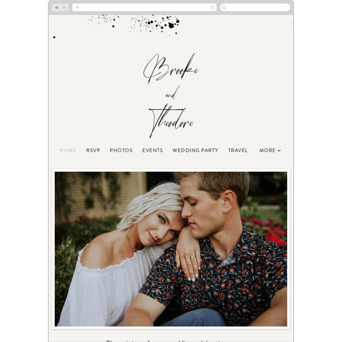 """""""Signature Style"""" - Wedding Websites in Ink by Design Lotus."""