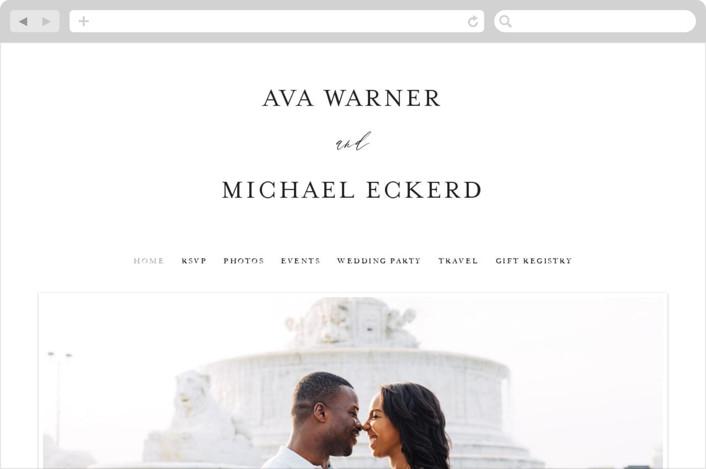 """""""Delicate"""" - Wedding Websites in Obsidian by Jennifer Postorino."""