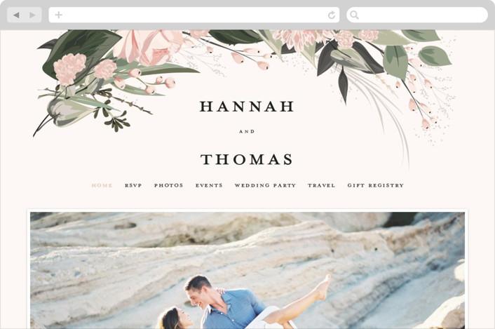 """Ivory Ring"" - Wedding Websites in Blush by Susan Moyal."