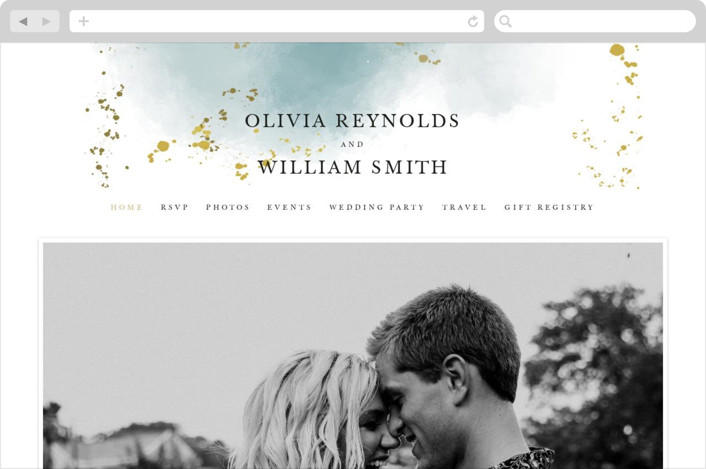 This is a green wedding website by Hannah Williams called Ethereal Dust printing on digital paper.