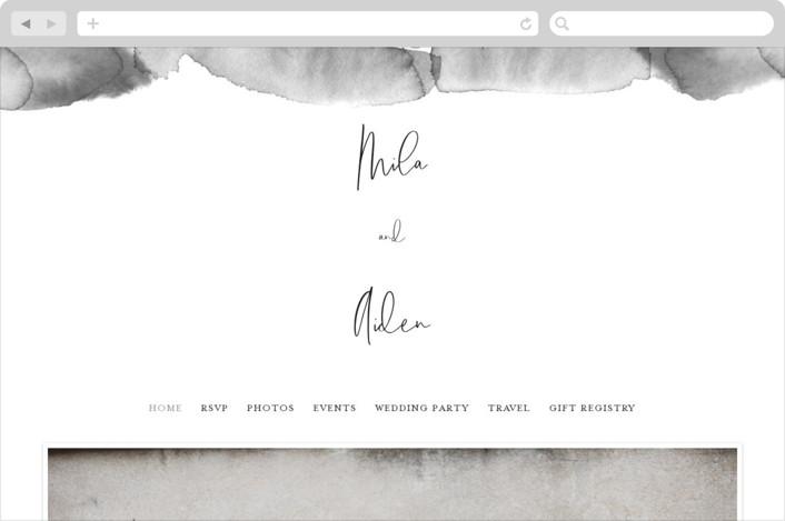 """""""Moxie"""" - Modern Wedding Websites in Ink by Design Lotus."""