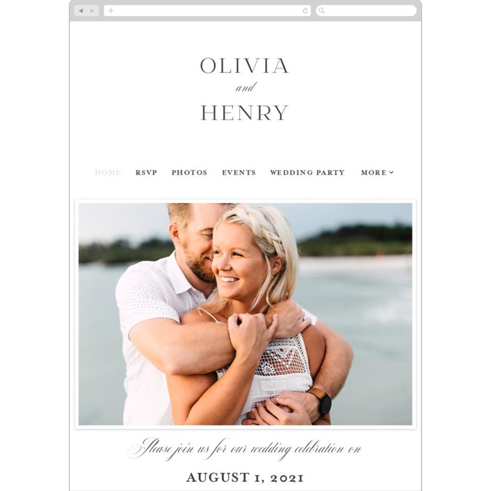 """Timeless Love"" - Wedding Websites in Blush by Carolyn MacLaren."