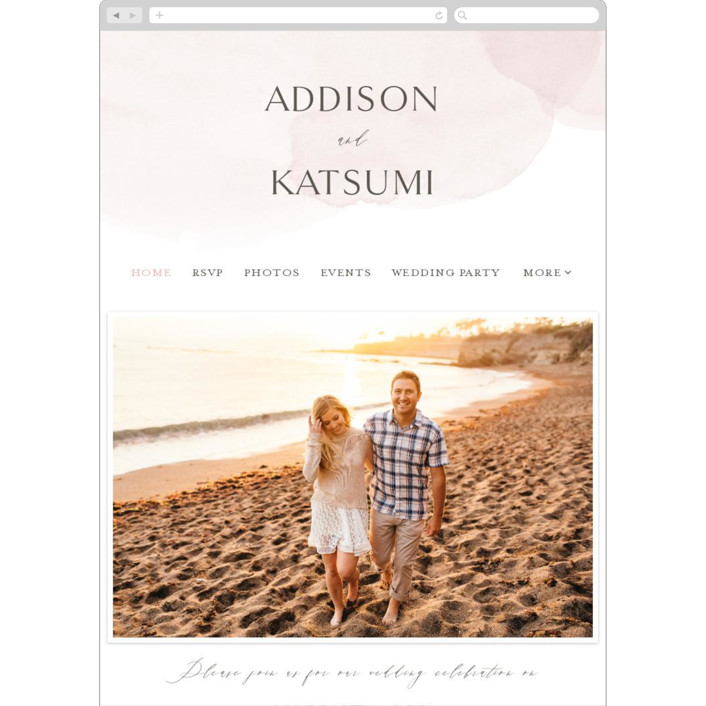 """""""Softly Layered"""" - Wedding Websites in Blush by Everett Paper Goods."""
