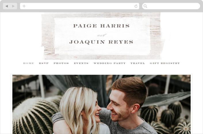 This is a brown wedding website by Hooray Creative called Barnwood printing on digital paper.