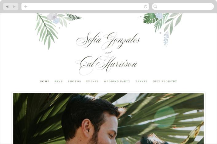 """Botanical Seal"" - Wedding Websites in Pastel by Kristen Smith."