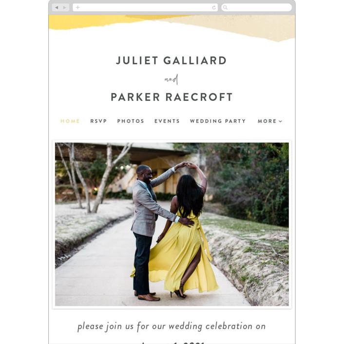 """""""Collage"""" - Modern Wedding Websites in Golden Rod by Ann Gardner."""