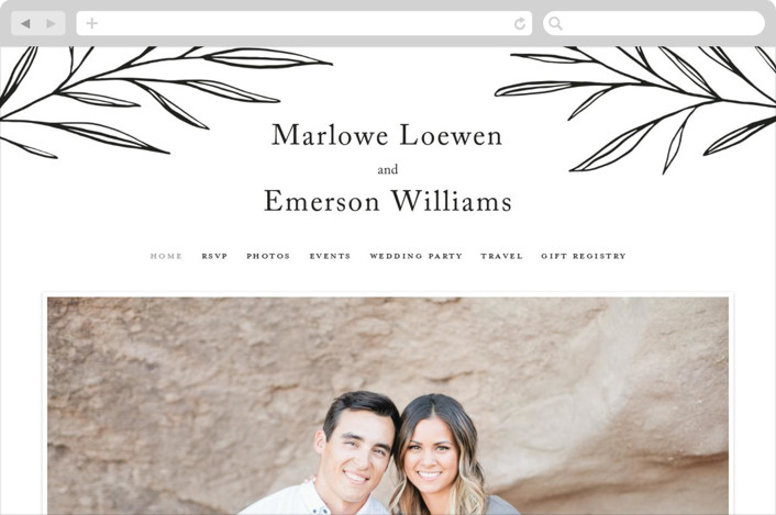 This is a white wedding website by Kelly Schmidt called Marlowe printing on digital paper.