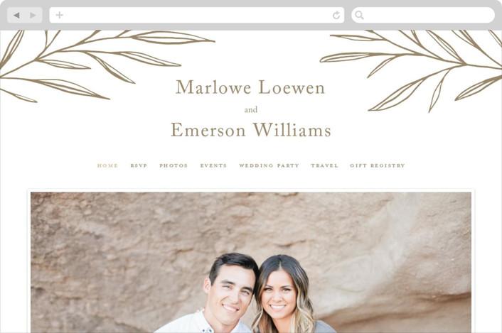 This is a brown wedding website by Kelly Schmidt called Marlowe printing on digital paper.
