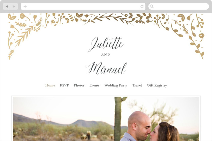 """Garden Romance"" - Wedding Websites in Golden by carly reed walker."