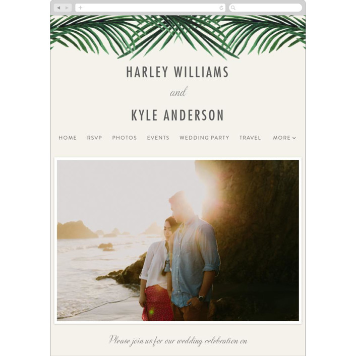 """Tropical Love"" - Wedding Websites in Gold by Elly."