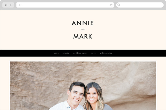 """The Square Types"" - Modern, Simple Wedding Websites in Creme by Design Lotus."