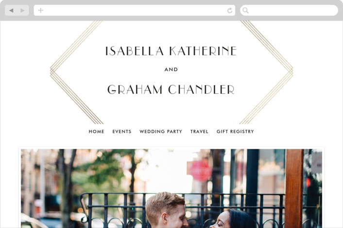 """Gilt"" - Wedding Websites in Gold by Lauren Chism."