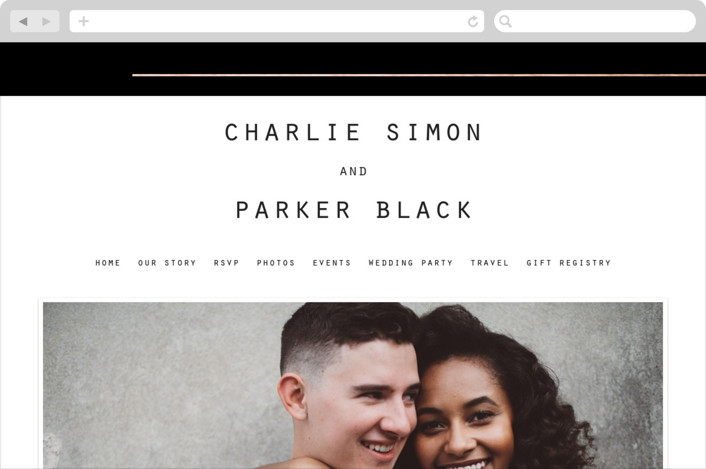 """BOLD AS LOVE"" - Simple, Modern Wedding Websites in Noir by DESIGN X FIVE."