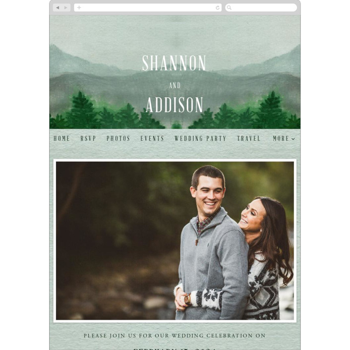 """Adventure Awaits"" - Rustic, Destination Wedding Websites in Smoke by Elly."