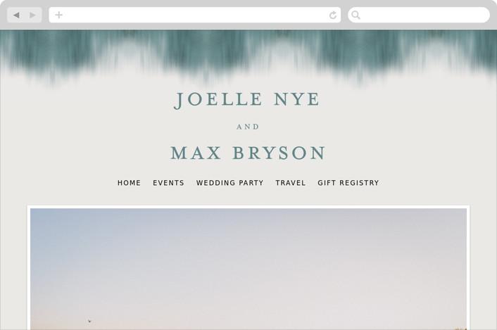 """Modern Beach"" - Beach, Modern Wedding Websites in Dark blue by Sarah Lenger."