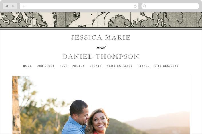 """""""Edenbridge"""" - Destination, Vintage Wedding Websites in Light Cream by Dauphine Press."""