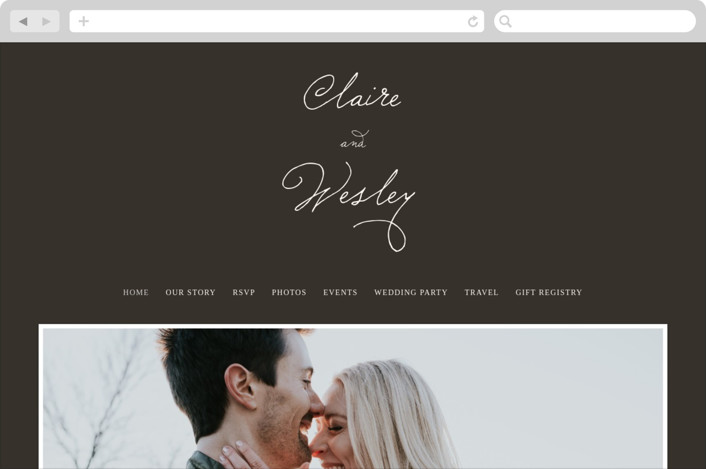 """Love Letter"" - Bold typographic, Classical Wedding Websites in Espresso by annie clark."