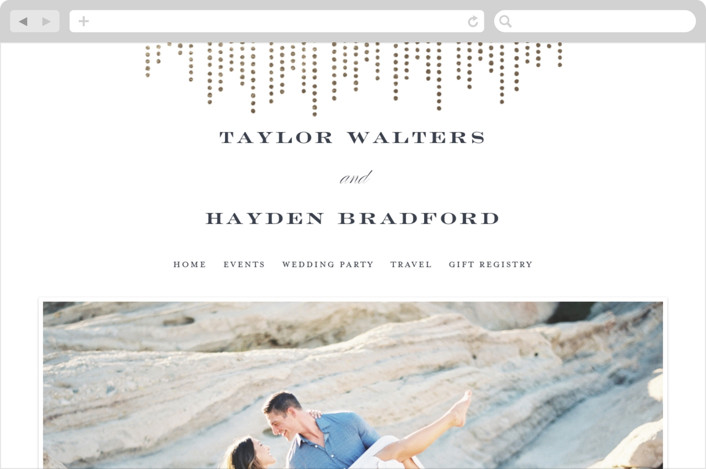 This is a white wedding website by Shirley Lin Schneider called Sparkle printing on digital paper.