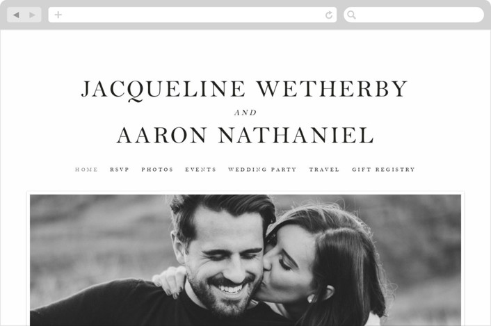 This is a white wedding website by Snow and Ivy called Sophistotype printing on digital paper.