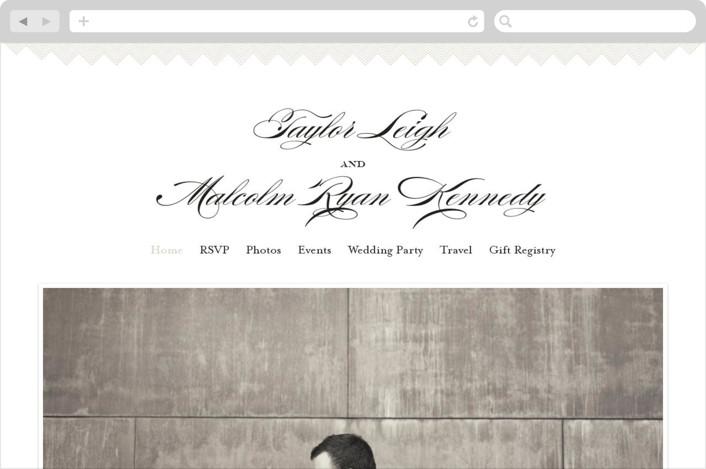 """""""Charming Go Lightly"""" - Wedding Websites in Crisp Black by danielleb."""