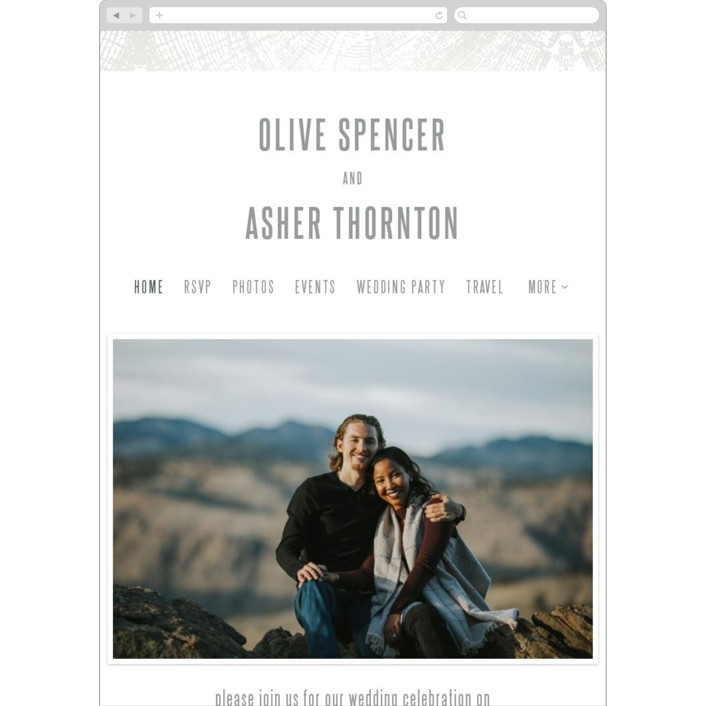 """""""Wedding Rings"""" - Rustic Wedding Websites in Snow Capped by Laura Bolter Design."""