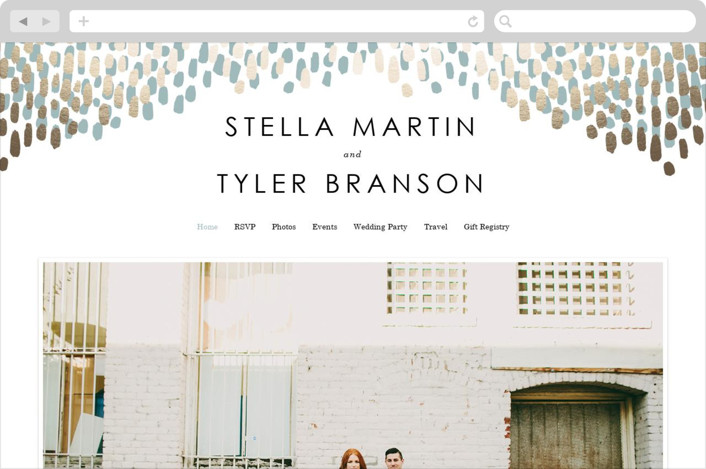 Modern Dash Wedding Websites by Makewells
