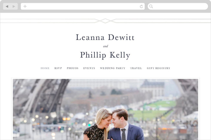 """""""Traditional Twist"""" - Wedding Websites in Cream by Sarah Brown."""