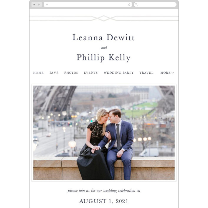 """""""Traditional Twist"""" - Wedding Websites in Navy by Sarah Brown."""