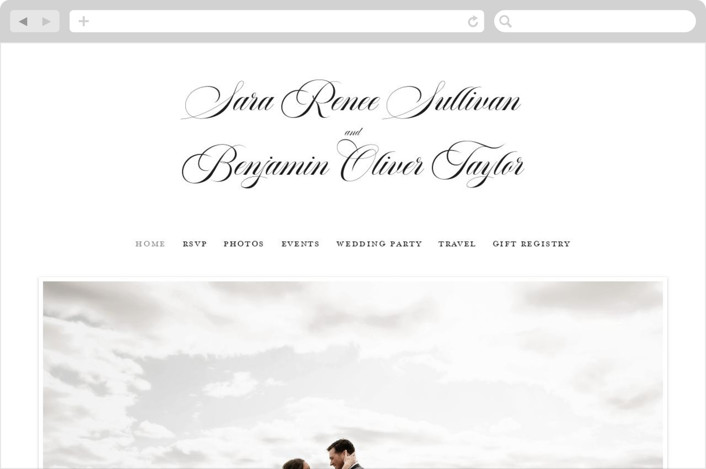"""Side by Side"" - Bohemian Wedding Websites in Snow by Carolyn MacLaren."